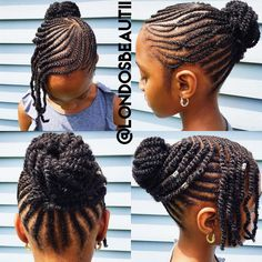Braided up-do on natural hair with extensions.|| Done by London's Beautii in…