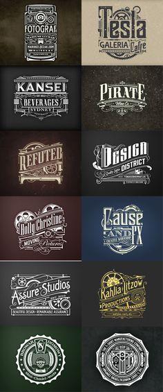 Vintage feel typography