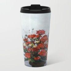 Bodegón de flores/Natureza morta de flores/Still life of flowers Metal Travel Mug