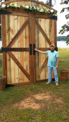 Barn Doors I Built For Wedding Back Drop More