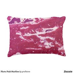Photo Pink Marblee Accent Pillow