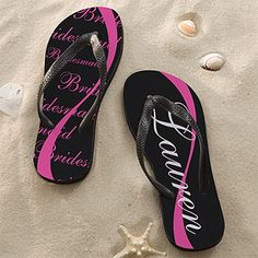 Wedding Party Personalized Adult Flip Flops - Wedding Gifts - Wedding Gifts