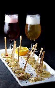 Cocktails And Canapes, Beer Tasting, Love Craft, Ravioli, Rose Petals, Craft Beer, Brewing, Eyes, Crafts