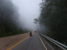 Riding into the clouds outside of Chattanooga Tn. Part of the Trail of Tears Ride. Kinda of leaves ya speechless, felt like we were ridding into Heaven.
