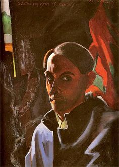 Witkiewicz, Stanislaw Ignacy (1885-1939) - 1924 Self-Portait (Museum of Literature, Warsaw, Poland) by RasMarley, via Flickr