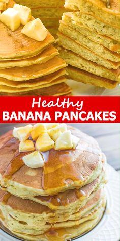 Healthy Banana Pancakes - These kid-friendly Healthy Banana Pancakes are easy to make and so fluffy and tasty. And there's - pfannkuchen for kids recipe einfach für kinder von Grund auf und pyjamaparty Baby Food Recipes, Keto Recipes, Dessert Recipes, Baking Desserts, Cake Baking, Picnic Recipes, Health Recipes, Health Desserts, Dinner Recipes