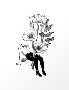Let me bloom print by Henn Kim