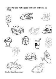 Healthy Foods Worksheet | Food | Pinterest | Worksheets ...