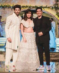 Kareena walks the ramp for at Lace Skirt, Sequin Skirt, Saif Ali Khan, Kareena Kapoor Khan, Manish Malhotra, Bridesmaid Dresses, Wedding Dresses, Sequins, Walks