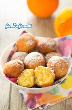 Castagnole all'arancia pronte in 15 minuti - Forno e fornelli Pretzel Bites, Pancake, Biscotti, Hamburger, Bread, Cooking, Desserts, Anna, Food