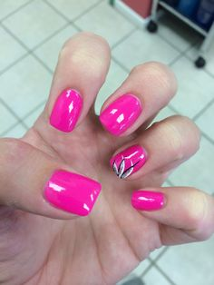 32 awesome nail design ideas to beautify your style 3 Bright Pink Nails, Cute Pink Nails, Purple Nails, Pink Zebra Nails, Fingernail Designs, Colorful Nail Designs, Cool Nail Designs, Cruise Nails, Cute Nail Colors