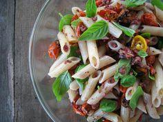 my darling lemon thyme: roasted cherry tomato pasta salad with Kalamata olive dressing recipe