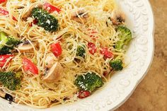 Pasta with Broccoli, Mushrooms, Tomatoes and Parmesan Cheese   Creative-Culinary.com