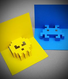 How to: Make an 8-Bit Pop-Up Greeting Card