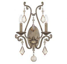 Oxidized Silver Crystal Wall Light : 1JLMV | Bright Light Design Center