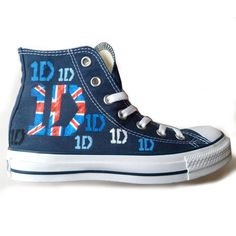 One Direction 1D Converse / Chucks ($110) ❤ liked on Polyvore