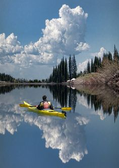 Paddling in the clouds. Wilderness Campsites.