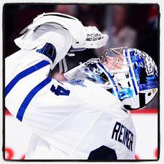 Maple Leafs Hot Stove Playoffs T-Shirts! James Reimer, Bernie Parent, Maple Leafs Hockey, Toronto Maple Leafs, Show Jumping, Hockey Players, Ice Hockey, Nhl, Football Helmets