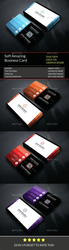 #Soft Amazing Business Card #Template..Download here:http://graphicriver.net/item/soft-amazing-business-card-template189/14560815?ref=arroganttype