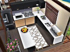 Home Decoration Ideas For Wedding Sims 4 Family House, Sims 4 Modern House, Sims 4 House Design, Casas The Sims Freeplay, Sims Freeplay Houses, Sims 4 Houses, Sims Free Play, Sims 4 Kitchen, Island Villa
