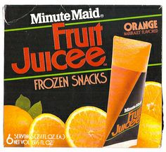 Minute Maid fruit juice frozen triangles.