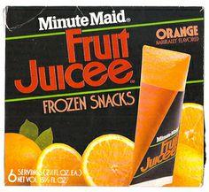 Minute Maid fruit juice frozen triangles.