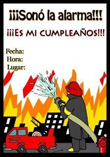 ideas para fiesta de bomberos