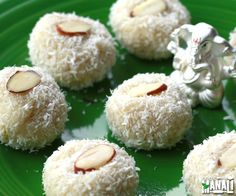 Instant coconut ladoos made with condensed milk Find the recipe on…