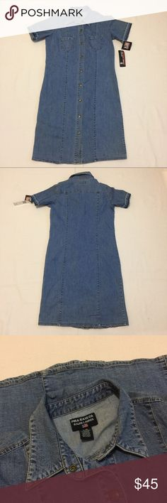 """Denim Ralph Lauren Polo Dress Totally on trend, denim dresses are back! Brand new with tags! Shoulder to hem 37"""" waist 17"""" (flat) Bust 20"""" (flat). Polo by Ralph Lauren Dresses Midi"""