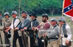 Photo : Civil War re-enactment.