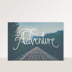 """Cuadro con frase """"Adventure"""" y fondo fotográfico — La Kermesse"""