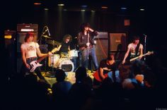 The Ramones performing at Max's in 1976. Photo by Bob Gruen