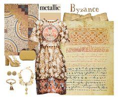 """Heavy Metal: Metallic Dresses"" by dezaval ❤ liked on Polyvore featuring Dolce&Gabbana, Bottega Veneta, Tiffany & Co., Charlotte Olympia, ...Lost and metallicdress"