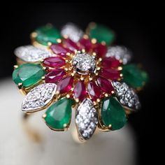 Sun Jewellery | For Women - Ring Project : R. Kothari's Sun Jewellery Product : Rubies and emerald Ring Photography | Photo Editing | Design and Web by Zuri Pixel