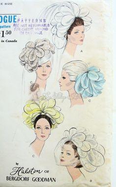 Vogue 7082 Halston Bridal Petal Head Piece ~  I would love to make it!