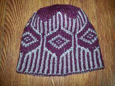 Ravelry: Double Knit Diamond Hat pattern by Mary Ann Moran