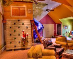 Jungle Jim room/treehouse.