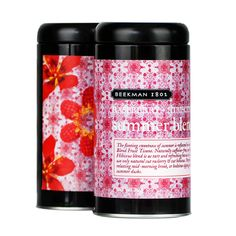 the NEW rasberrry  hibiscus Summer tea blend from Beekman 1802