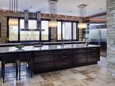 Gorgeous Stone Kitchen. Browse hundreds of contemporary looks #HGTV >> http://www.hgtv.com/designers-portfolio/room/contemporary/kitchens/4639/index.html#//room-kitchens/style-contemporary?soc=pinterest
