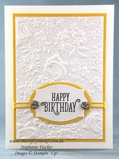 Country Floral Daffodil - www.thecraftythin…, Sale-A-Bration, Country Floral, Elegant birthday card, Stampin' Up - Handmade Birthday Cards, Happy Birthday Cards, Diy Birthday, Cricut Birthday Cards, Birthday Quotes, Birthday Greetings, Birthday Wishes, Cards Diy, Stampin Up Karten