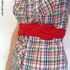 Not a pattern, just a picture of a stinkin cute belt.