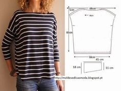 Ideas para el hogar: 50 Moldes de ropa de damas