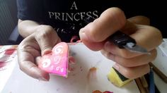 Try these simple effects on polymer clay, using alcohol inks and inexpensive white glue.