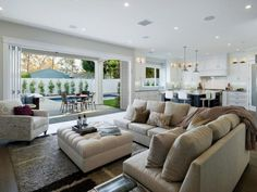 Elegant Open Plan Living Room Decorating Ideas 03