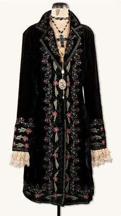 Victorian Women's Coats, Jackets, Suits | Edwardian, 1910s, WW1 Renaissance Coat Dress $299.95 AT vintagedancer.com