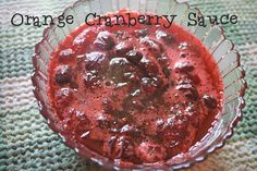 Orange Cranberry Sauce - easy and tasty Christmas side dish