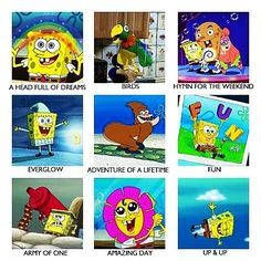 A Head Full Of Dreams: Spongebob Edition. XD