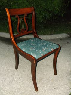 Ordinaire A Superb Early 20th American Duncan Phyfe Lyre Back Chair 1920s Original  Needle Point Upholstery