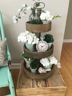 Tiered Tray Styled for Spring