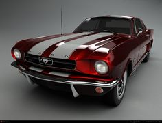 Ford Mustang 69 candy apple red